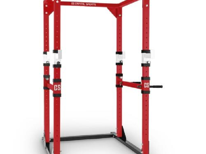 RACK CAPITAL SPORTS Tremendour Power Rack Home GYM BARRE DE TRACTION ROUGE/BLANC