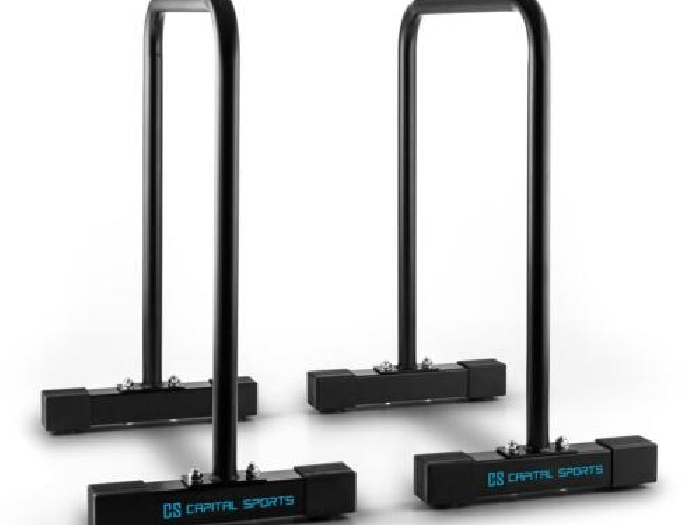 STATION DIPS CAPITAL SPORTS EQUALIZER Training SIXPACK EXERCICE FITNESS GYM NOIR