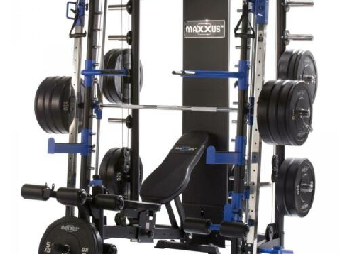 Gorilla Sports - MAXXUS Multipresse 10.1 Smith machine avec banc de musculation