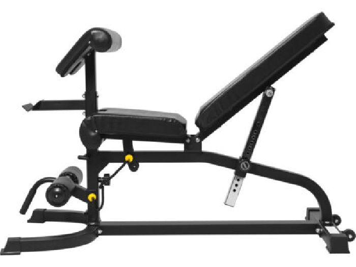 Gorilla Sports - Banc inclinable avec accessoires jambes/Curl