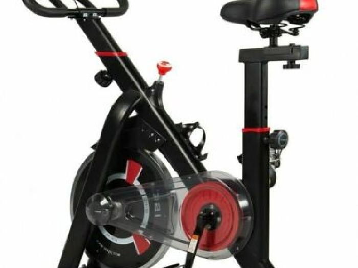 Velo Appartement Professionnel Spinning Bike Ecran LCD Distance Vitesse Fitness