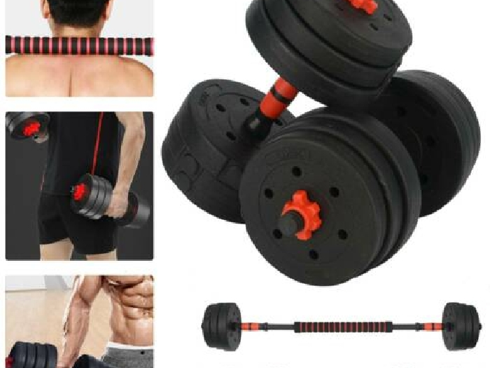 Alteres Musculation 20Kg Halteres Fitness Gym Poids Entrainement Home Dumbbell