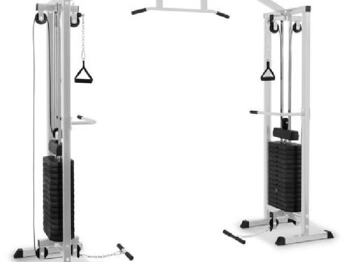 appareil de musculation multifonction tire c bles poids 2x. Black Bedroom Furniture Sets. Home Design Ideas
