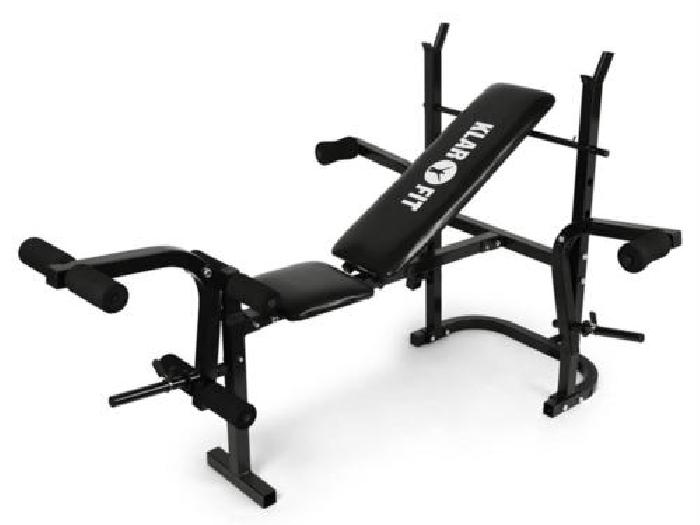 Klarfit banc de musculation exercices abdominaux bras bodybuilding charge 160kg musculation - Banc abdominaux exercices ...