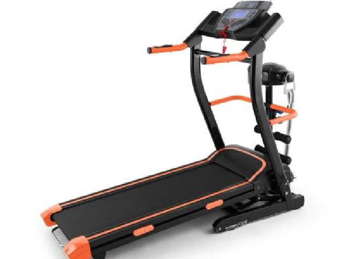 appareil cardio training gym complet tapis course electrique massage noir orange musculation. Black Bedroom Furniture Sets. Home Design Ideas