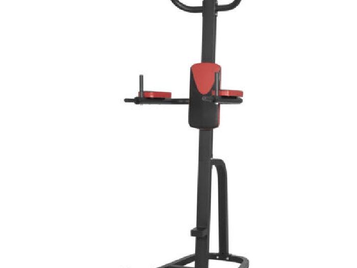 Gorilla Sports - Station de traction multifonction power tower rouge - Chaise ro
