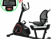 Vélo d'appartement couché programmable Masse rotative 10 kg H4M5