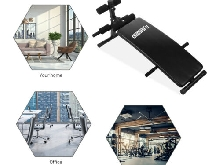 OneTwoFit Adjustable Decline Sit up Bench Crunch Board Durable Fitness Home Gym
