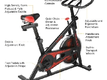 Vélo d'appartement Ergomètre Spinning Biking Indoor Cardio cardiofréquencemètre