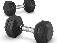 2 X HALTERES COURTS CAPITAL SPORTS HEXBELL DUMBBELL 25 KG TOTAL 50KG FITNESS PRO