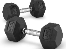 2 X HALTERES COURTS CAPITAL SPORTS HEXBELL DUMBBELL 27,5 KG TOTAL 55KG FITNESS