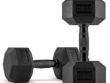 Paire d'haltères courts 2 x 27,5 kg Body building Cross traing Musculation noir
