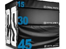 SET CAPITAL SPORTS ROOKSO BOITES SOFT JUMP BOX 15 / 30 / 45 CM 3 PIECES - NOIR