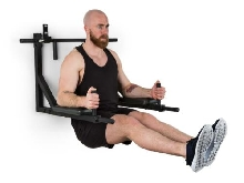 Station musculation multifonction Traction Dips & Push-up max 200kg - acier noir