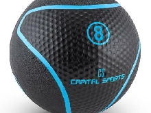 MEDECINE BALL CAPITAL SPORTS FITNESS FORCE ENDURANCE CAOUTCHOUC GYM FITNESS 8KG