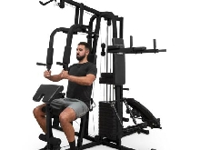 Appareil musculation multifonction 7 stations Câbles Traction Table d'inversion