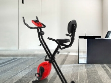 Finether pliant Vélo d'appartement Exercise fitness cycle cardio ordinateur LCD