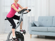 KUOKEL Vélos d'appartement Pliable Exercise Bike Moniteur numérique Fitness yoga