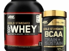 100% Gold Whey Standard 2273g FRAISE + BCAA Peach passion fruit 266g ON