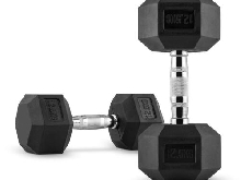 2X PETITES HALTERES CAPITAL SPORTS HEXBELL DUMBELL 12,5KG TOTAL 25KG Fitness