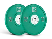2X 10KG DISQUE POUR HALTERE CAPITAL SPORTS URETHANE MUSCU BODY BUILDING VERT