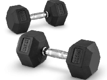 Lot 2x haltère 22,5 kg entraînement muscu dumbell Fitness training bodybuilding