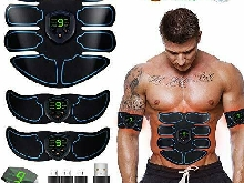 EGEYI Appareil Abdominal, Electrostimulateur Musculaire ABS Trainer EMS Smart C
