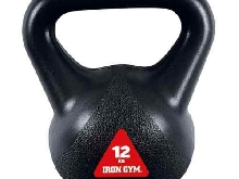 Iron Gym Kettlebell 12 kg Poids Libre Musculastion Fitness Haltères Sport