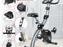 écran LCD Vélo d'Appartement Pliable calories Exercise Bike Réglable Fitness EU