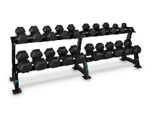 Capital Sports Dumbbell Rack Set support + 10 x paires haltères courts 5 à 30kg