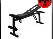 BANC DE MUSCULATION MULTIFONCTION PLIABLE KLARFIT HALTERE BODYBUILDING GYM SITUP
