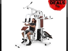 Station Fitness Musculation Multifonction Machine Sport Corps Gym Appareil Blanc