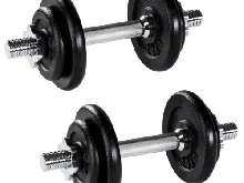 Set d'haltères courts poids barres disques fitness musculation biceps exercice