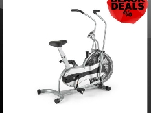 Ergomètre crosstrainer vélo appartement fitness ordinateur calories vitesse gris