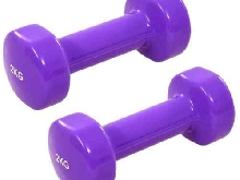 vidaXL 2x Haltères 4 kg Fonte Lilas Fitness Exercices Sport Musculation Gym