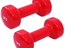 vidaXL 2x Haltères 6 kg Fonte Rouge Fitness Exercices Sport Musculation Gym