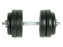 Dumbbell 15Kg- gym home Fitness- With a plastic cover perfect protact