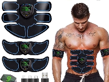 EGEYI Appareil Abdominal,Electrostimulateur Musculaire ABS Trainer EMS Smart Cei