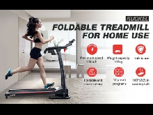 KUOKEL 10km/h Pliable Tapis De Course Treadmill LED Monitor 12 Preset Programs