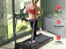 Tapis de Course, 746 Watts, Vitesse réglable de 1-10km/h, Charge maximale: 100kg