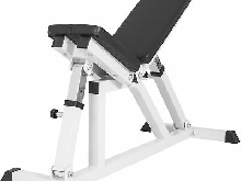 Gorilla Sports - Banc de musculation multipositions noir ou blanc