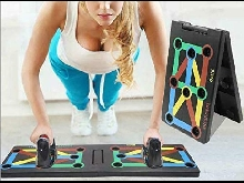 Surplex 9 en 1 Push Up Musculation Push Up Board avec Poignée, Pliable Planche