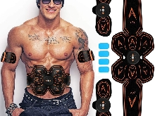 EMS Trainer,Electrostimulateur Musculaire,Appareil Abdominaux, Muscle Trainer, A