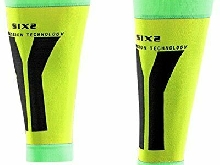 SIX2 Yellow/Green-M Bandeau Mollet compressif M Mixte Adulte M