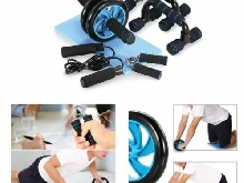 Appareils de Fitness 5 en 1 Kit Complet Fitness Exercices Musculation Salle Abdo