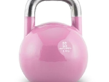 Kettlebell CAPITAL SPORTS entraînement physique body building acier 8kg rose