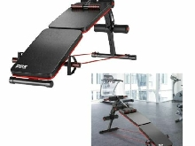 Banc Musculation Pliable Multifonction Fitness Sit-up Sangles Extension Laterale