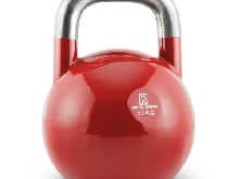 Kettlebell CAPITAL SPORTS entraînement physique body building acier 32kg rouge
