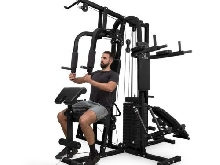 Station Fitness Musculation Multifonction Machine Sport Corps Gym Appareil Noir
