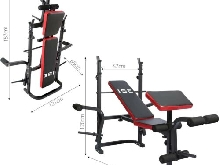 Fitness Musculation Banc Entraînement Complet Multifonctions Pliable Inclinable